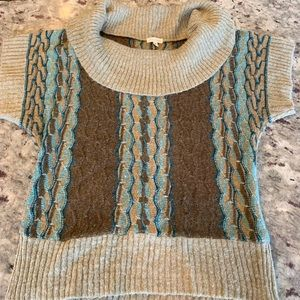 Cowl Neck short sleeve sweater